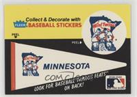 Minnesota Twins Pennant - Fred Toney Hippo Vaughn