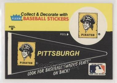 1986 Fleer - Team Stickers Inserts/Baseball's Famous Feats #PIPI.1 - Pittsburgh Pirates Pennant - Deacon Phillippe