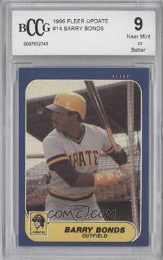 1986 Fleer Update - Factory Set [Base] #U-14 - Barry Bonds [ENCASED]