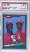 Willie McGee, Vince Coleman [PSA 10]