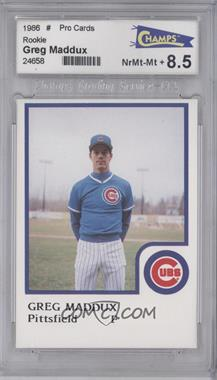 1986 ProCards Pittsfield Cubs - [Base] #GRMA - Greg Maddux [ENCASED]