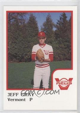 1986 ProCards Vermont Reds - [Base] #JEGR - Jeff Gray