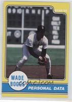 Wade Boggs Personal Data
