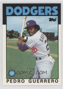 1986 Topps - [Base] - Box Set Collector's Edition (Tiffany) #145 - Pedro Guerrero
