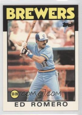 1986 Topps - [Base] - Box Set Collector's Edition (Tiffany) #317 - Ed Romero