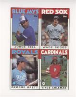 Jorge Bell, Wade Boggs, George Brett, Vince Coleman [EXtoNM]