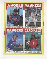 Reggie Jackson, Don Mattingly, Oddibe McDowell, Willie McGee