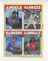 Reggie Jackson, Don Mattingly, Oddibe McDowell, Willie McGee [EXtoN…
