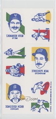 1986 Topps Tattoos - [Base] #1 - Charlie Leibrandt, Dickie Thon, Lee Smith, Dave Winfield, Julio Franco, Keith Hernandez, Jack Perconte, Rich Gossage