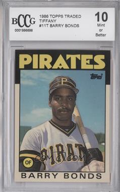 1986 Topps Traded - [Base] - Collector's Edition (Tiffany) #11T - Barry Bonds [ENCASED]