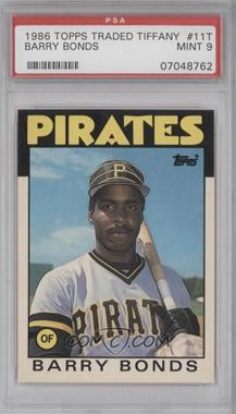 1986 Topps Traded - [Base] - Collector's Edition (Tiffany) #11T - Barry Bonds [PSA9]