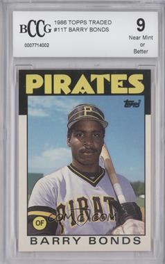 1986 Topps Traded - [Base] #11T - Barry Bonds [ENCASED]