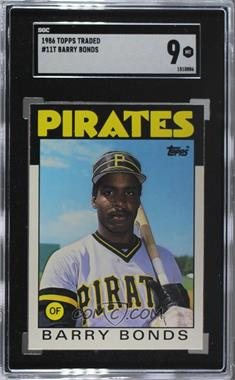 1986 Topps Traded - [Base] #11T - Barry Bonds [SGC 9 MINT]
