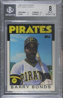 1986 Topps Traded - [Base] #11T - Barry Bonds [BGS 8 NM‑MT]