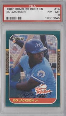 1987 Donruss The Rookies - Box Set [Base] #14 - Bo Jackson [PSA 8]