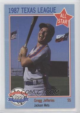 1987 Feder Texas League All Stars Base 11 Gregg Jefferies