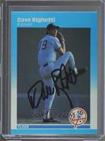 Dave Righetti [JSA Certified Auto]