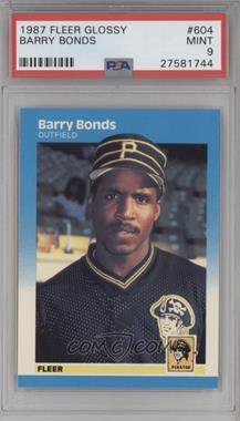 1987 Fleer - [Base] - Factory Set Glossy #604 - Barry Bonds [PSA9]