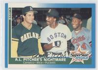 Jim Rice, Kirby Puckett, Jose Canseco
