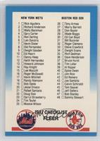 Checklist 1-95 (Mets, Red Sox, Astros, Angels)