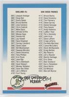 Checklist 385-483 (Athletics, Padres, Dodgers, Orioles)