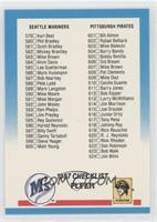 Checklist 579-660 (Mariners, Pirates, Special Cards)