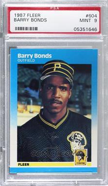 1987 Fleer - [Base] #604 - Barry Bonds [PSA9MINT]