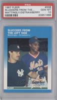 Sluggers Fom The Left Side (Don Mattingly, Darryl Strawberry) [PSA 10]