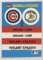 Chicago Cubs Team, Oakland Athletics Team [Noted]