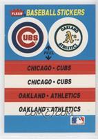 Chicago Cubs Team, Oakland Athletics Team