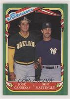 Jose Canseco, Don Mattingly