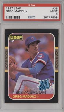1987 Leaf Canadian - [Base] #36 - Greg Maddux [PSA 9]