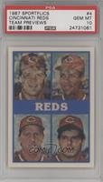 Cincinnati Reds Team, Eric Davis, Dave Parker, Bill Gullickson, Tom Browning, K…