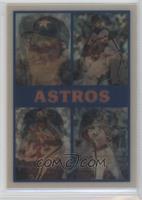 Houston Astros Team, Glenn Davis, Bob Knepper, Kevin Bass, Mike Scott, Charlie …