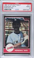 Don Mattingly (Personal Data) [PSA 9]