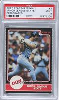 Don Mattingly (Minor League Stats) [PSA 9]