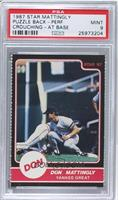 Don Mattingly (Yankee Great Puzzle Back applying tag) [PSA 9]