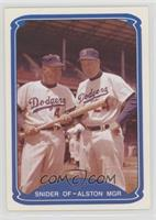 Duke Snider, Walter Alston