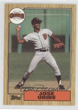 1987 Topps - [Base] - Box Set Collector's Edition (Tiffany) #633 - Jose Uribe