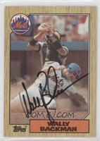 Wally Backman [JSA Certified COA Sticker]