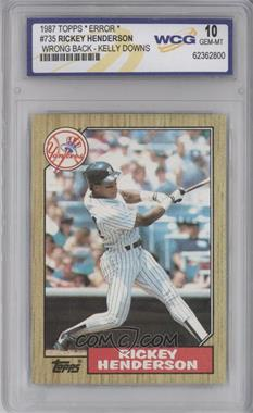1987 Topps - [Base] #735 - Rickey Henderson [ENCASED]