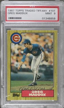 1987 Topps Traded - [Base] - Tiffany #70T - Greg Maddux [PSA 9]