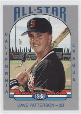 1988 Cal League California League All-Stars - [Base] #1 - Dave Patterson