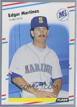 1988 Fleer - [Base] - Glossy #378 - Edgar Martinez