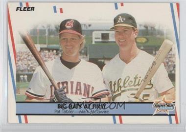 1988 Fleer - [Base] - Glossy #633 - Pat Tabler, Mark McGwire