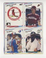 St. Louis Cardinals Logo, Mike Schmidt, Tim Wallach, Dave Stewart