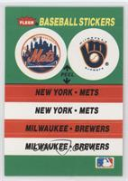 New York Mets, Milwaukee Brewers Team