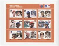 Orange Set - Luis Aparicio, Paul Molitor, Lou Gehrig, Jeffrey Leonard, Eric Dav…