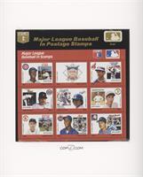 Red Set - Ernie Banks, NL Logo, Julio Franco, Jack Morris, Fernando Valenzuela,…