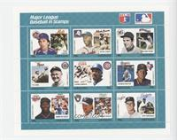 Teal Set - Gary Carter, Hank Aaron, Gaylord Perry, Ty Cobb, Andre Dawson, Charl…